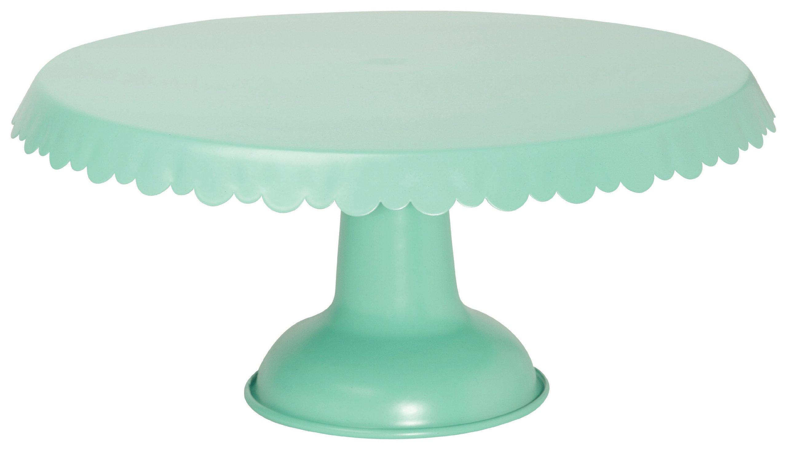 Now Designs Tin Cake Stand, Aqua