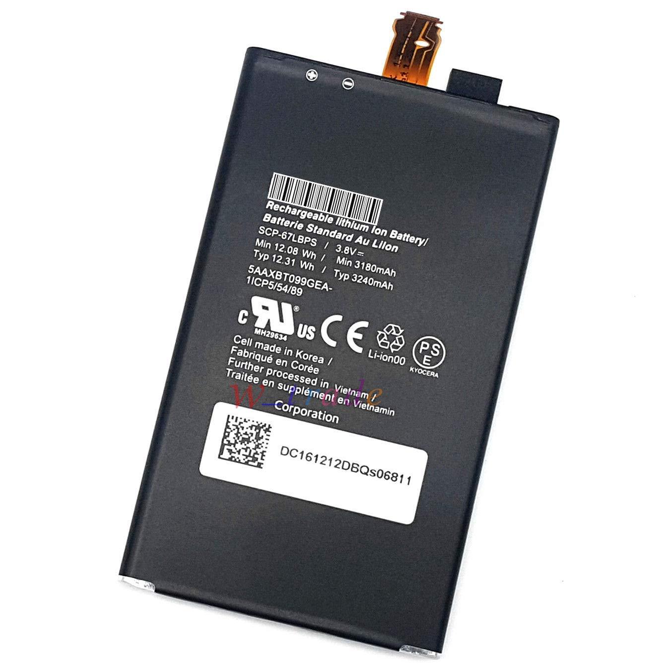 FidgetFidget OEM New Battery for Kyocera Duraforce PRO E6820 E6810 SCP-67LBPS 3240mAh 3.8V