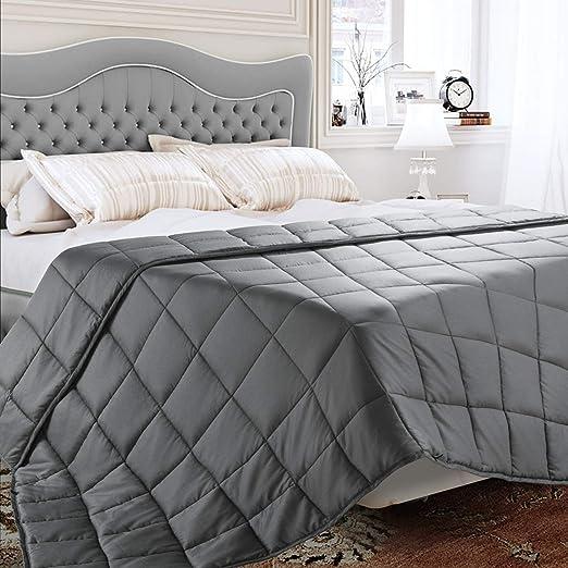 BedStory Manta Ponderada 100% Algodón Natural Manta Sofa Gris ...