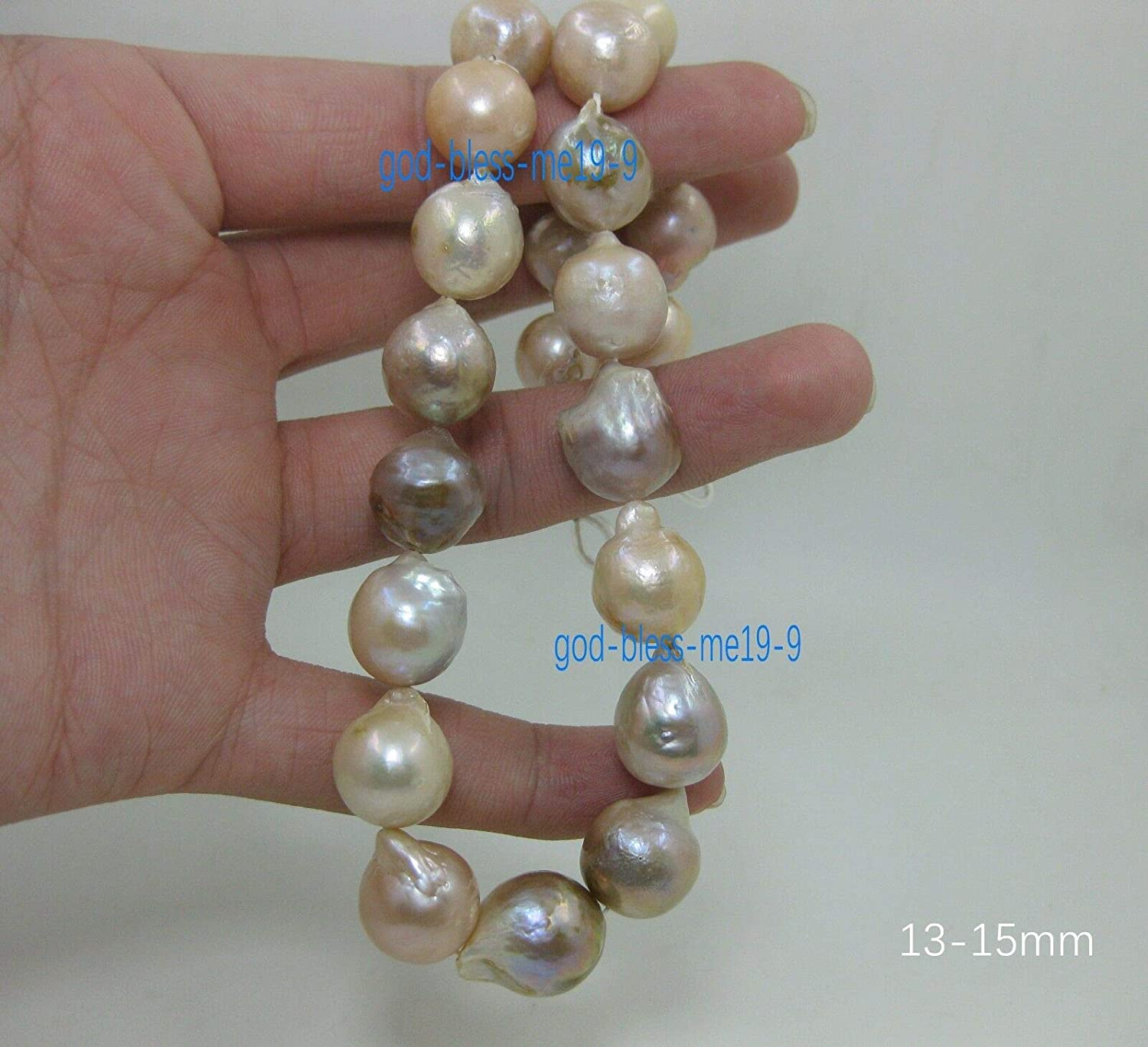 NEW HUGE NATURAL AAA+ SOUTH SEA WHITE BAROQUE PEARL NECKLACE 18/'/'