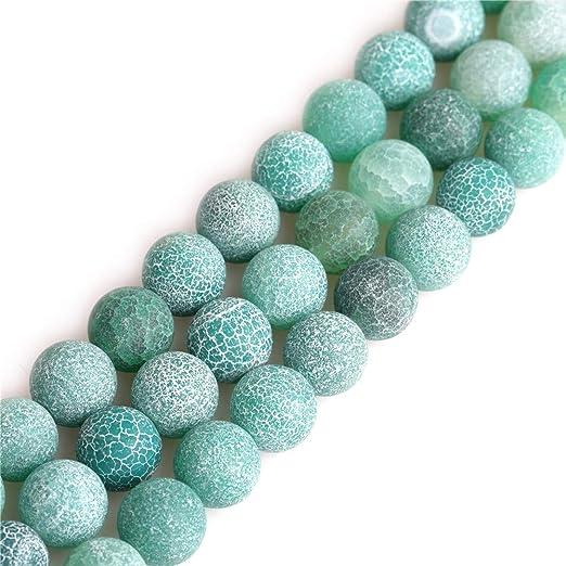 50 Glasperlen in dunkelgrün gefrostet 6 mm