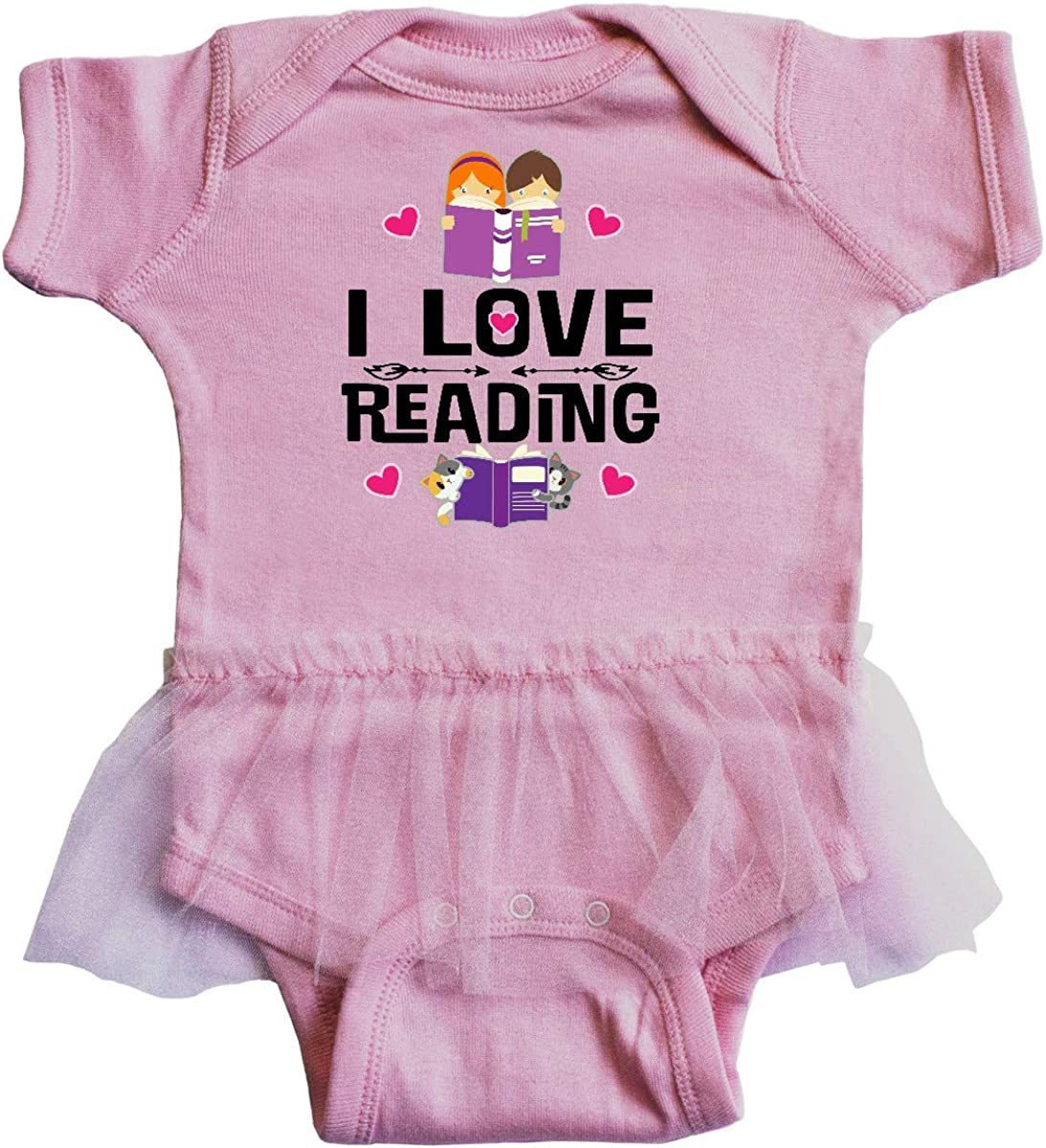 inktastic I Love Reading Infant Tutu Bodysuit