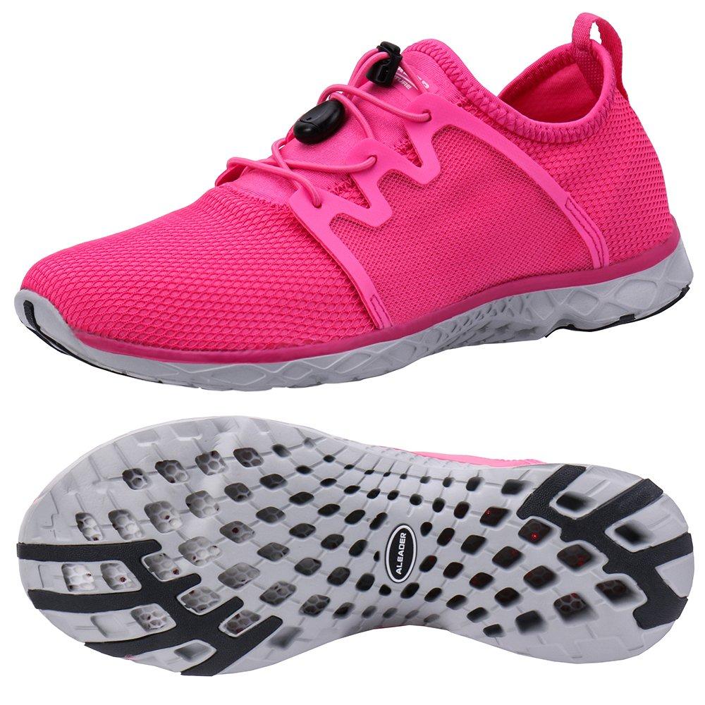 ALEADER Women's Adventure Aqua Water Shoes Fushia 9 D(M) US by ALEADER