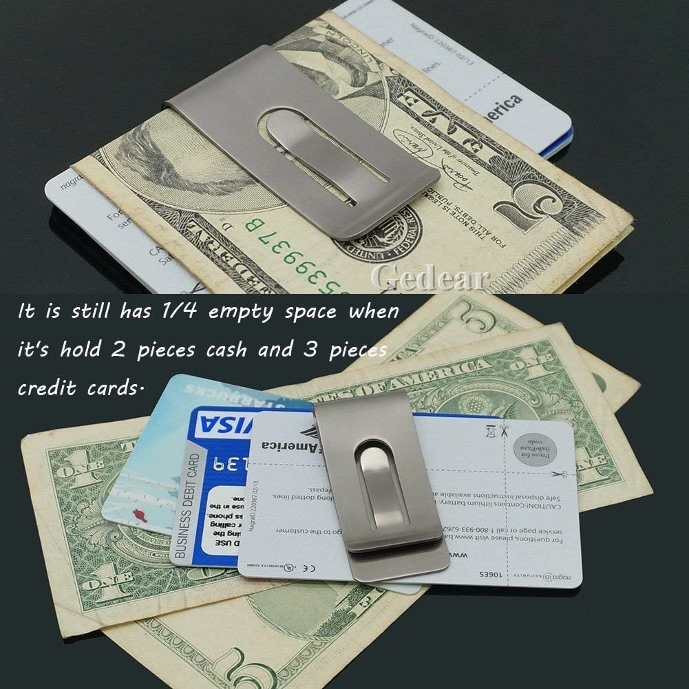 Titanium Ti money clip Double Deck Credit card clip holder EDC Tool