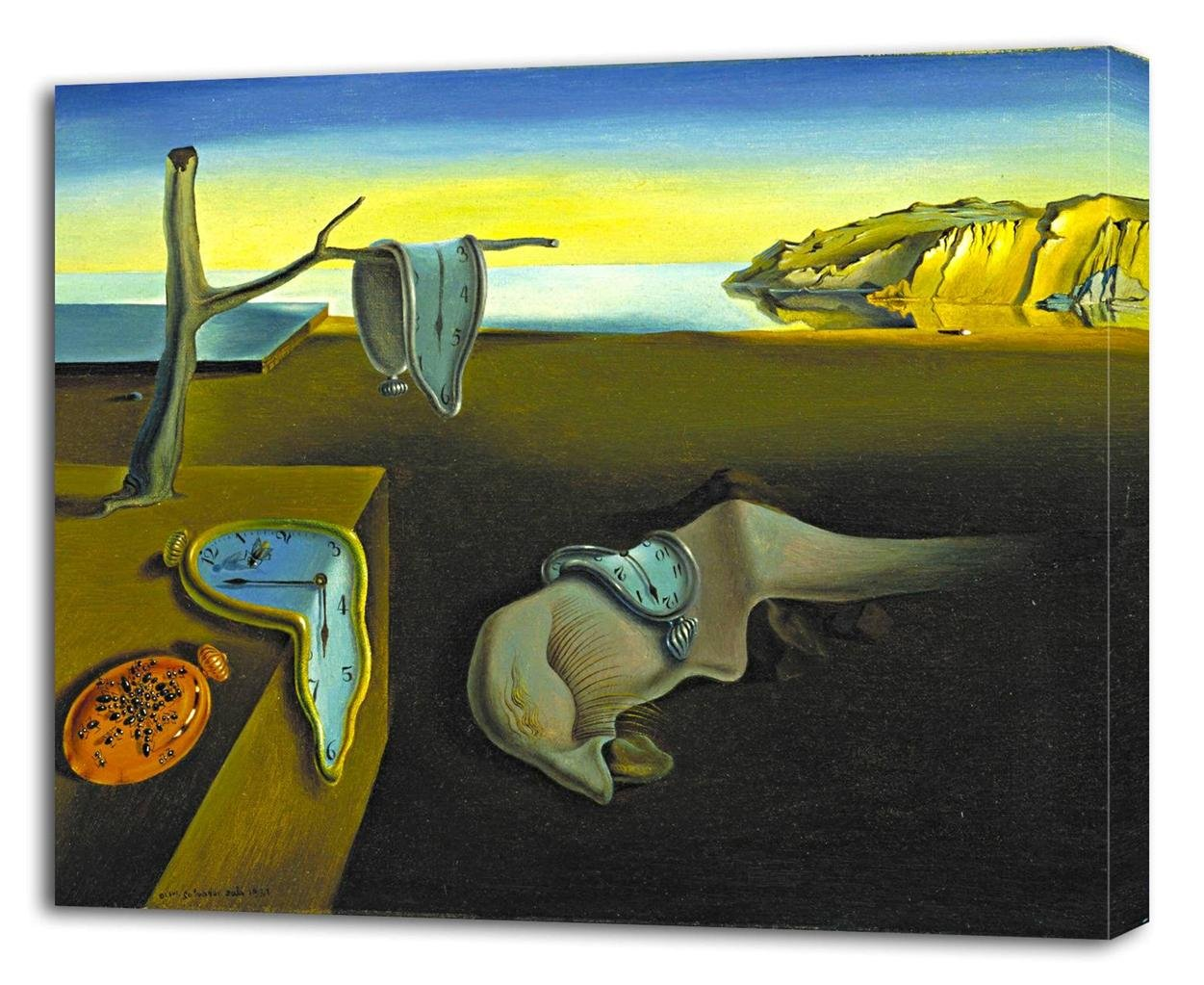 Amazon.com: SALVADOR DALI The Persistence of Memory CANVAS PRINT Wall Decor Art Painting On P019, 6: Posters & Prints