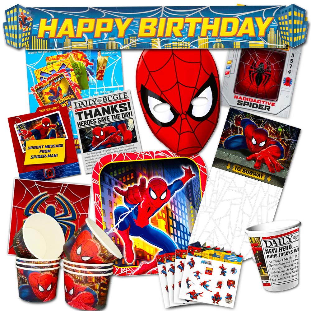 Amazon.com: Marvel Spiderman Suministros para fiestas ...