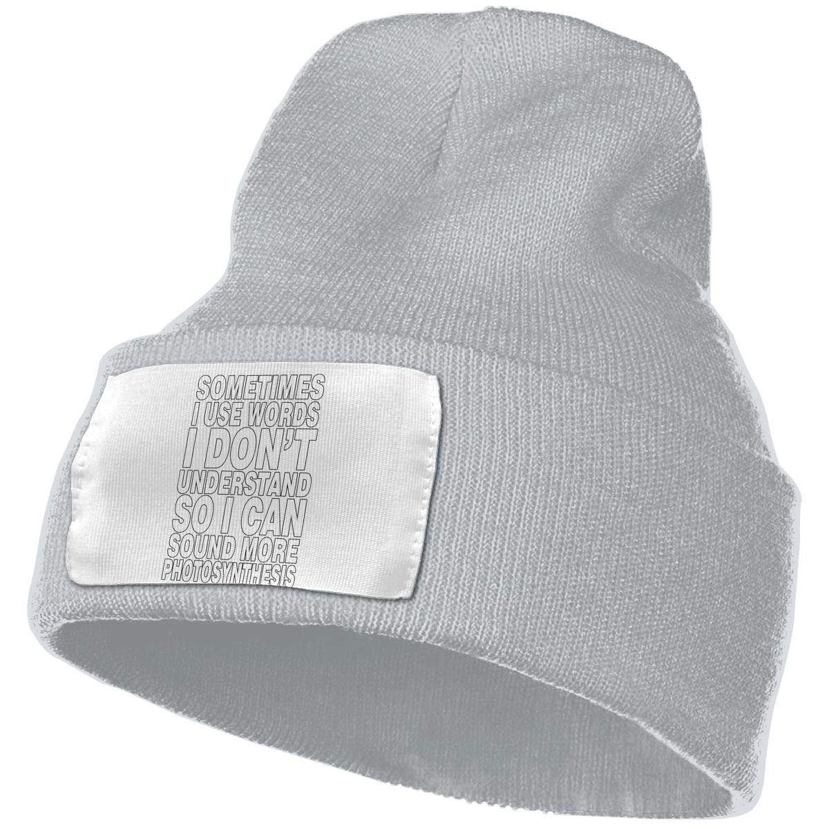 TAOMAP89 Sometimes I Use Words I Dont Understand Women and Men Skull Caps Winter Warm Stretchy Knitting Beanie Hats