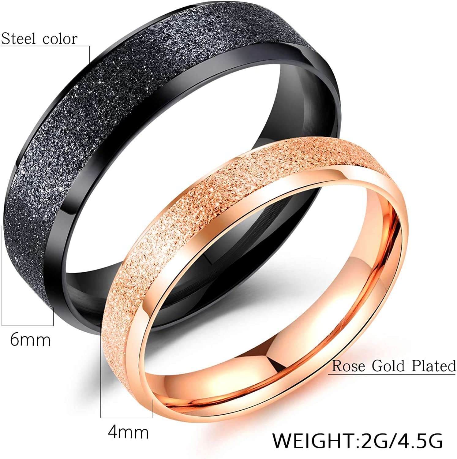 Stainless steel ring,frosted steel ring,gold steel ring,stainless steel ring band,black stainless steel ring band,gold steel band