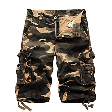 fde5ec76b50 Amazon.com  Hycsen Mens Cotton Relaxed Fit Fit Outdoor Camouflage ...