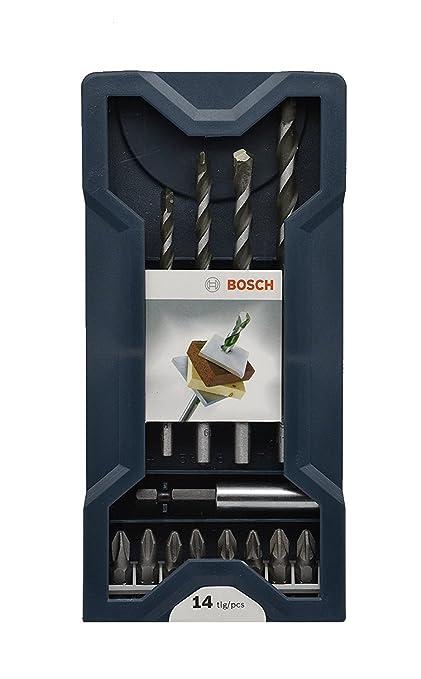 Brocas multiusos de Bosch Professional, 14 piezas, juego Mini-X-Line ...