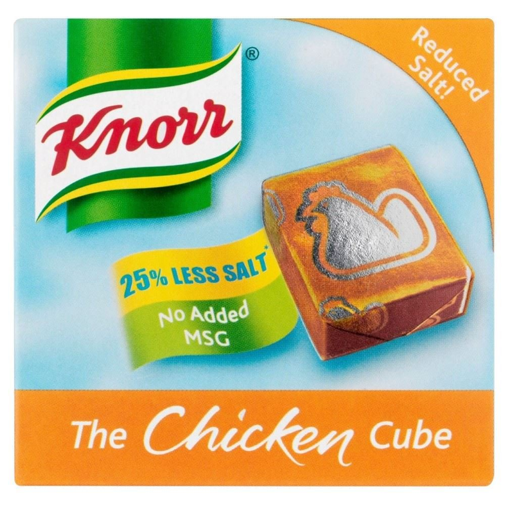 Knorr Chicken Stock Cubes Low Salt (6x9g) - Pack of 2