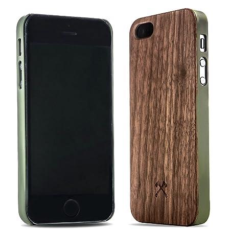 Woodcessories - EcoCase Classic - Premium Design Case, Cover, Hülle für das iPhone aus FSC zert. Holz (iPhone 5/ 5s/ SE, Waln