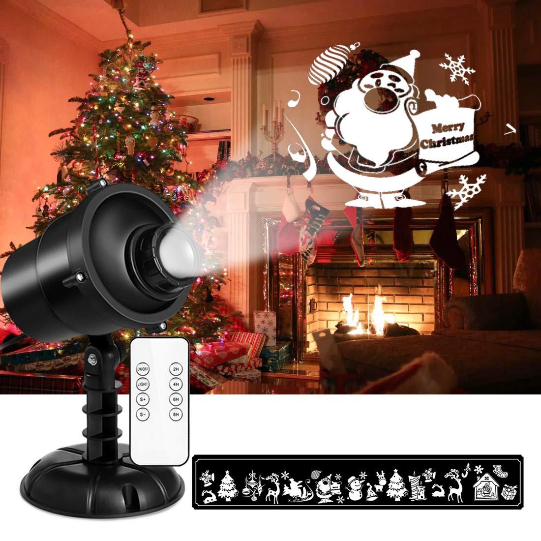 LED Projektionslampe mit Fernbedienung 9W NACATIN LED Weihnachtsbeleuchtung Auß en und Innen IP65 Stimmungslichter fü r Weihnachten Party Hochzeit