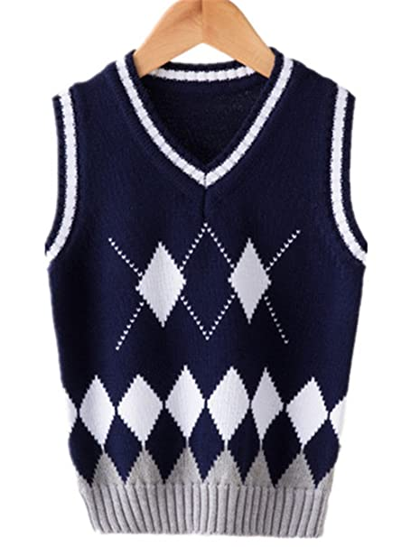 909eb91ec6c9 Ruirs Nice Boys Girls Sweater Vest School Uniforms V-Neck Kids Knit ...