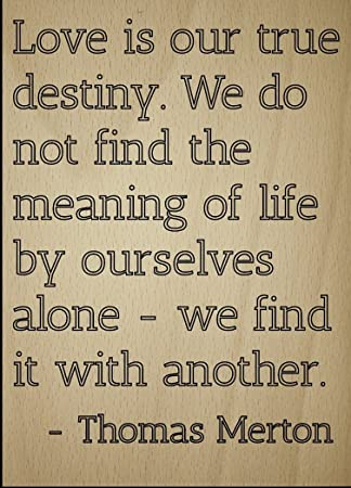 Amazoncom Love Is Our True Destiny We Do Not Find Quote By