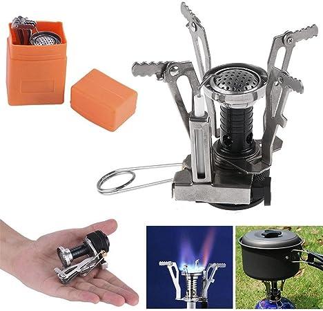 Mini camping gas horno Cocinar Grabadora aleación de titanio ...
