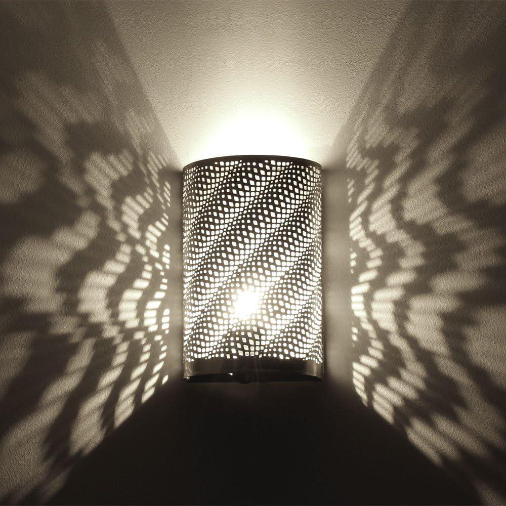 L 19 cm style marocain m/étal argente albena shop 71-531 Kavita applique orientale H 30 cm