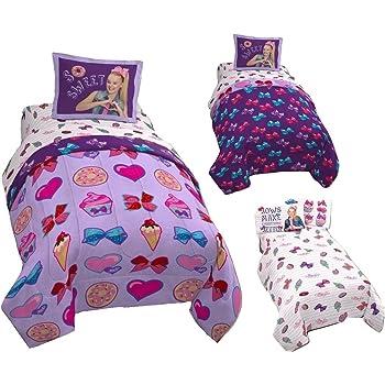 Amazon Com Jojo Siwa Twin Comforter Amp Sheet Set 4 Piece
