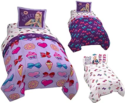 Amazoncom Jojo Siwa 6pc Full Size Bedding Twinfull Reversible
