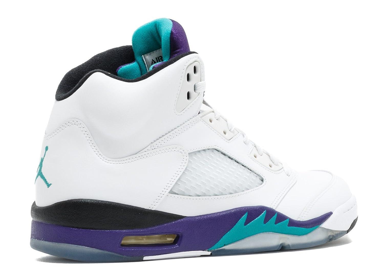 low priced d99a8 4bc31 Amazon.com   Jordan Air 5 Retro Grapes Men s Basketball Shoes White New  Emerald-Grape Ice-Black   Basketball