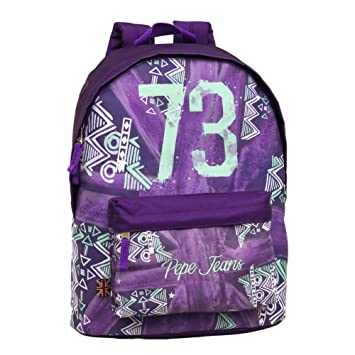 Pepe Jeans 73 Mochila Adaptable a Carro, Color Morado, 21.5 litros: Amazon.es: Equipaje