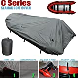 Seamax Inflatable Boat Cover, C Series for Beam Range 5.3' to 5.7' (FEET), 5 Sizes fits Length 9.9' to 13.8' (FEET)