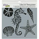 Crafters Workshop Sea Creatures Crafter's Workshop Template, 12-Inch by 12-Inch
