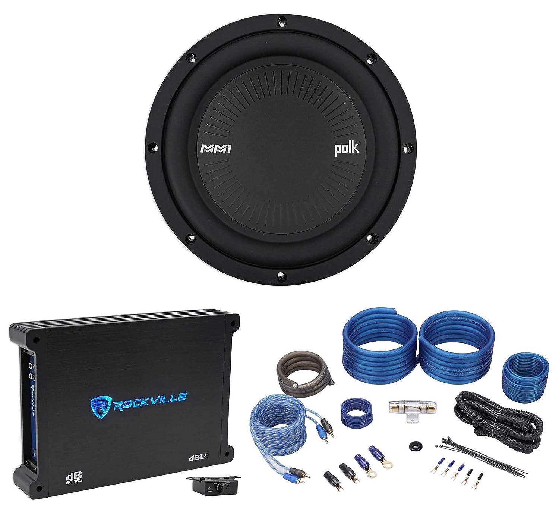 Amazon.com: Polk Audio MM842DVC 8 900w DVC Car Audio Subwoofer Sub+Mono  Amplifier+Amp Kit: Car Electronics