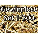 Röllchenlose gold-glänzend, Set 1-200
