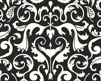 Livingwalls 6693 77 Papier Peint Motif Baroque Blanc Noir Design