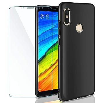 AROYI Funda Duro Xiaomi Redmi Note 5, Carcasa Protector Ultrafino Shock-Absorción + Cristal Templado 9H Dureza 1 Pack Protector de Pantalla ...