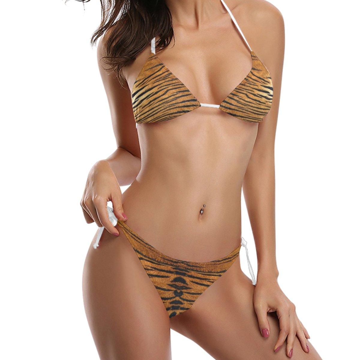 Use7 Tiger Animal Print 2 Piece Swimsuits Bathing Bikini Sets for Women