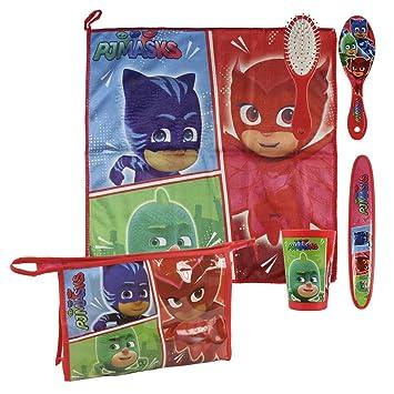 PJ Masks - Set de Comedor, Neceser con Accesorios