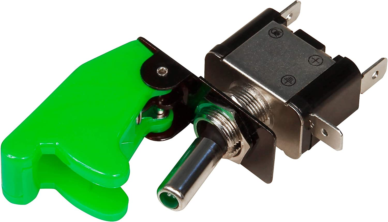 gr/ün 12V MC POWER 35A Kill-Switch mit Schutzkappe und LED