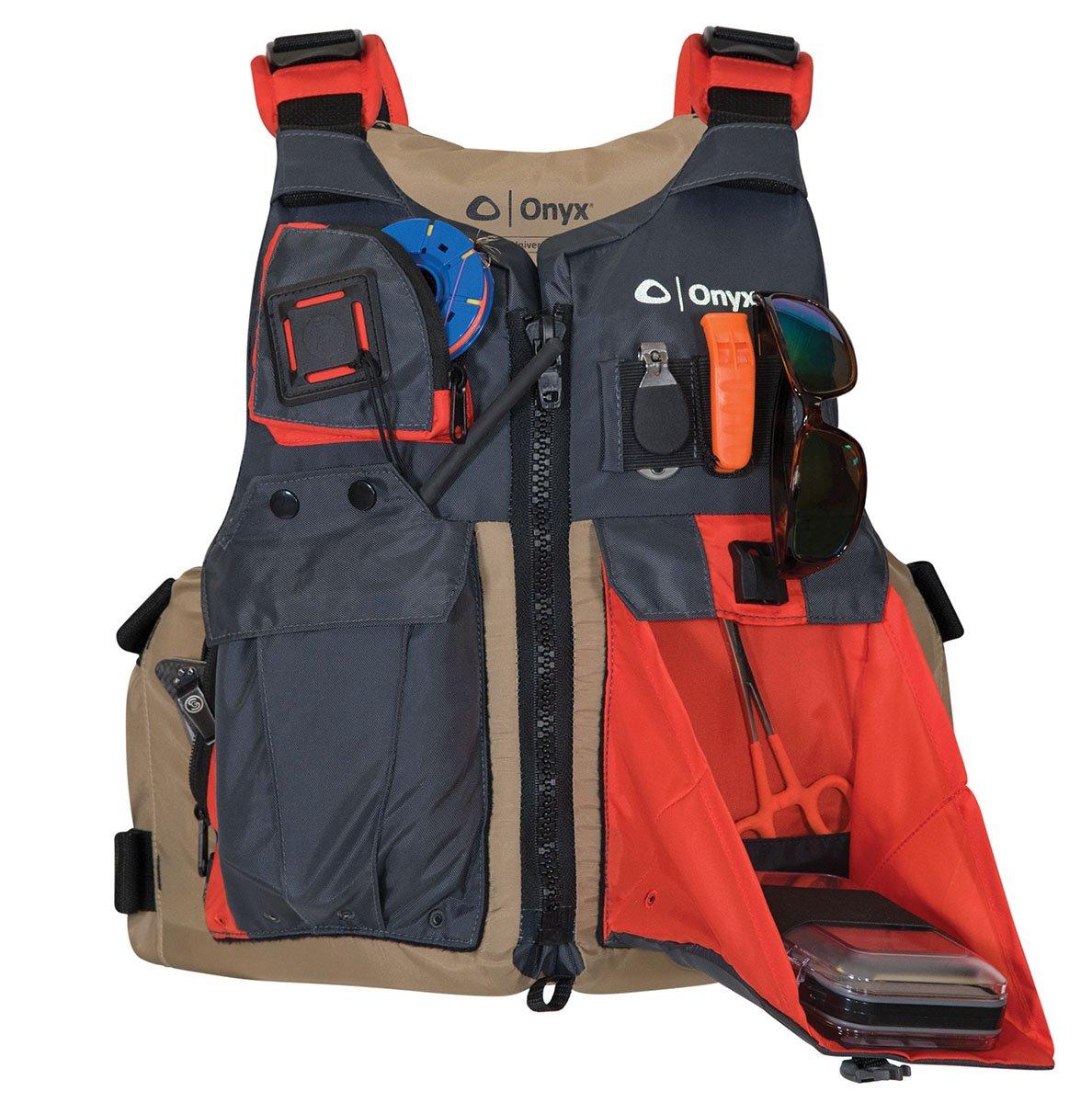 ONYX Kayak Fishing Life Jacket Tan