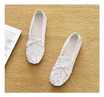 a176b8b47e5 WULIFANG Microfibra Superficial Puntiagudo Lentejuelas Suave Brisa Agua  Taladro Zapatos De Suela Plana 39 Negro: Amazon.es: Deportes y aire libre