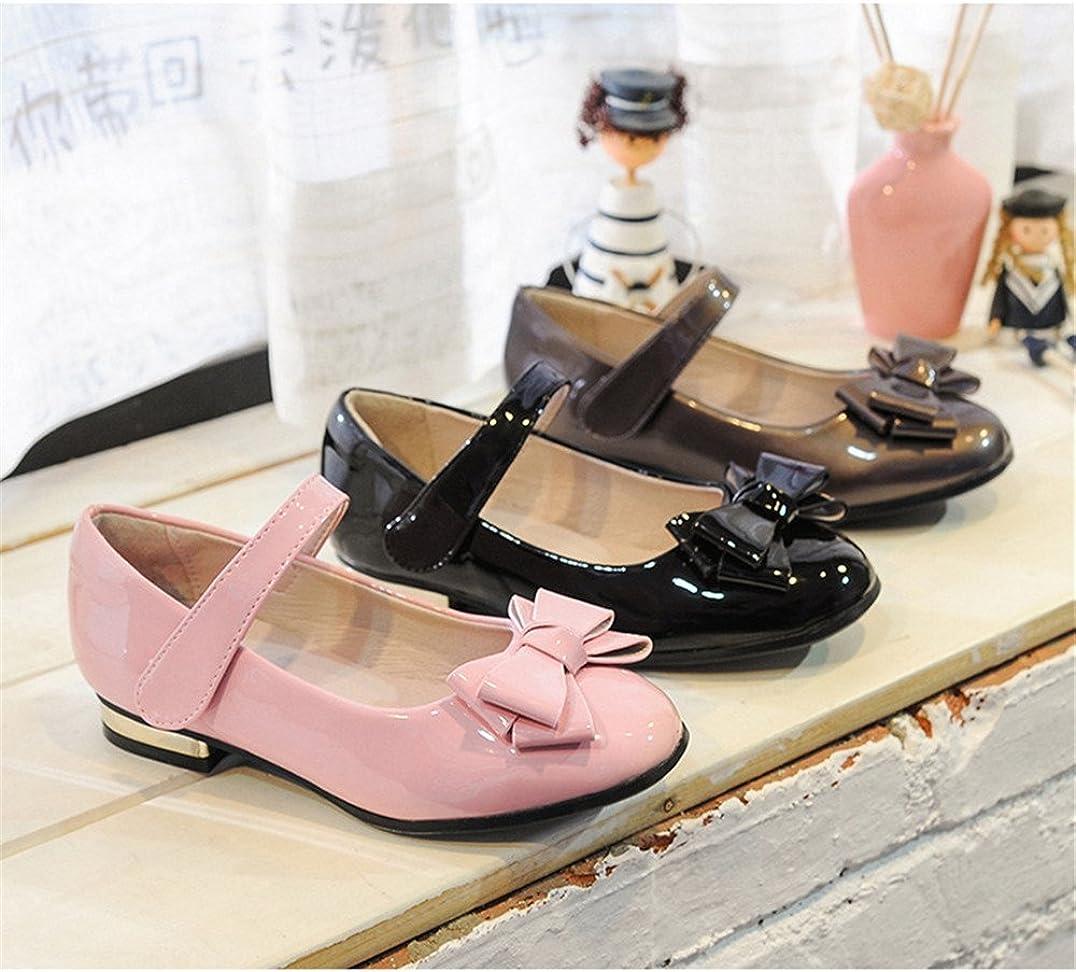 pit4tk Girls Flexible Slip-On Dress Ballet Flats Dress Shoes Princess Shoes Little Kids//Little Girls