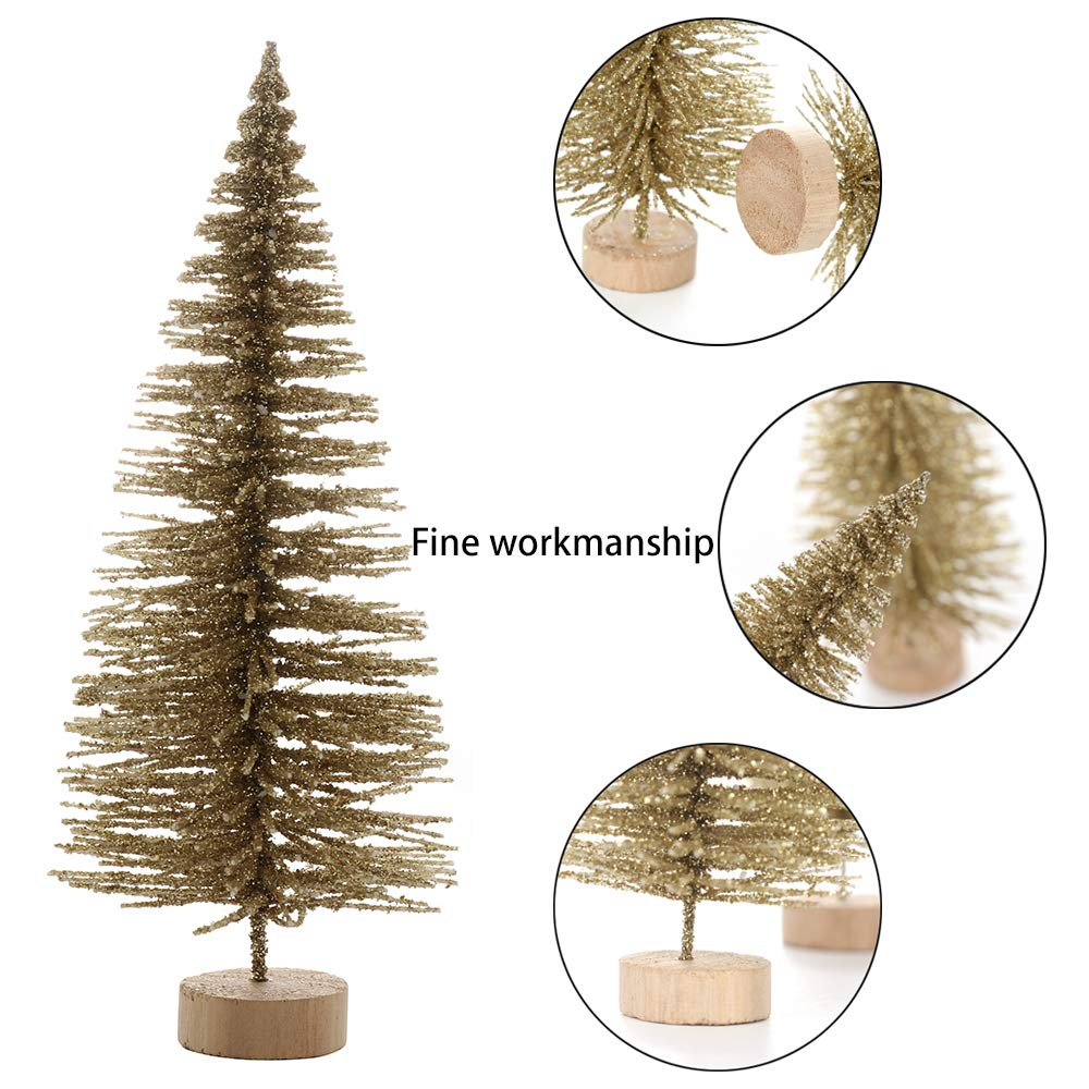 24Pcs Artificial Christmas White Cedar Small Sisal Snow Frost Trees for Home Store Holiday Wedding Party Xmas Decor JYCRA Christmas Tree