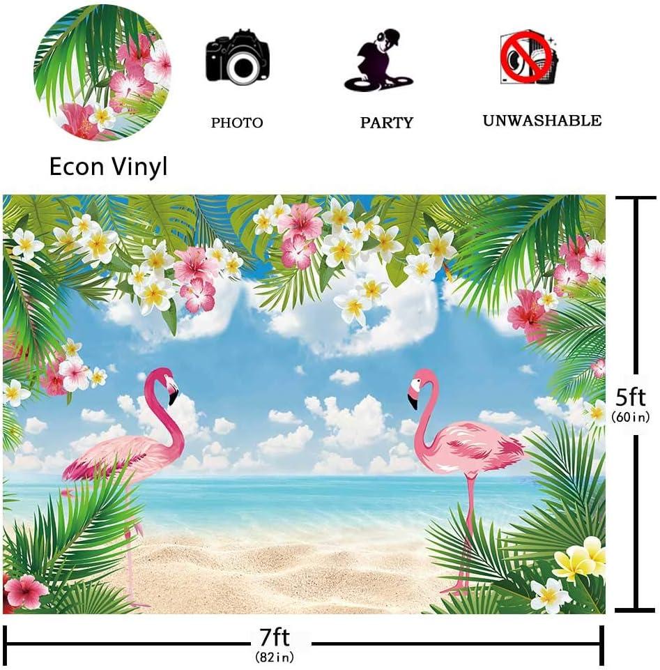 Hawaii Beach Flamingo Bird Unisex Fashion Quick-drying Microfiber Headdress Outdoor Magic Scarf Neck Neck Scarf Hooded Scarf Super Soft Handle