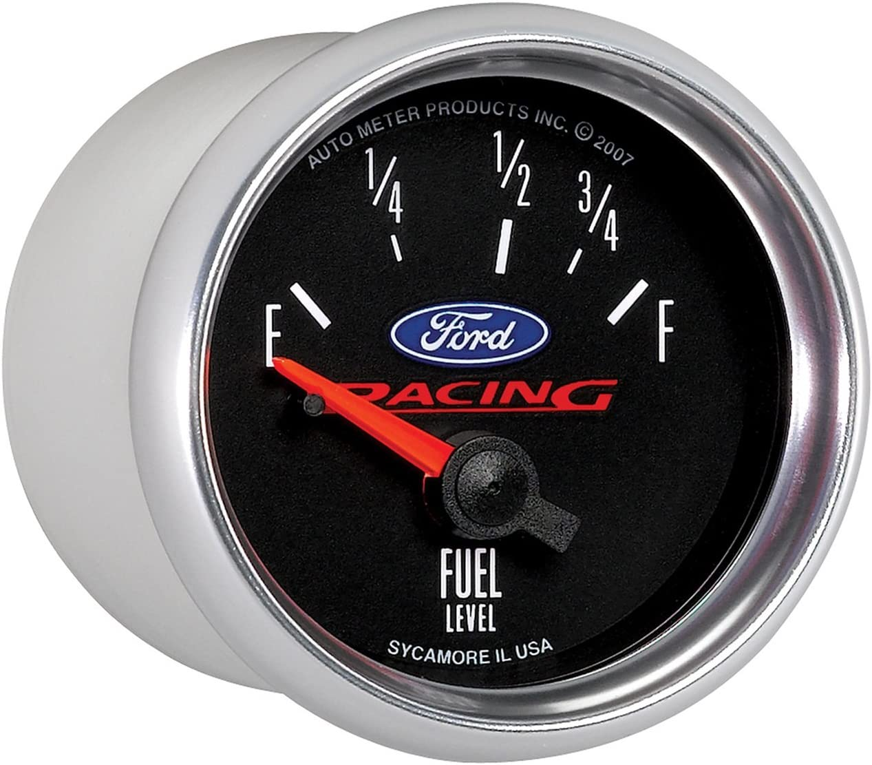 Auto Meter 880075 2-1//16 Empty 73 Ohm//Full 10 Ohm Fuel Level Gauge for Ford Racing