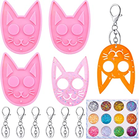 All 3 New silicone  key chain molds