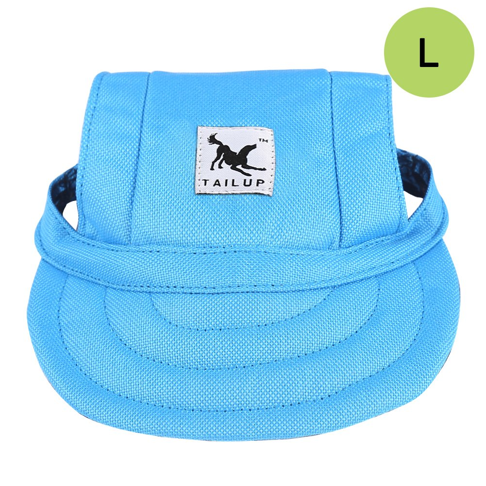 bluee-L CALIFORNIA CADE ELECTRONIC Cade Pet Baseball Cap Dogs Sport Hat Visor Cap with Ear Holes for Small Dogs (bluee-L)