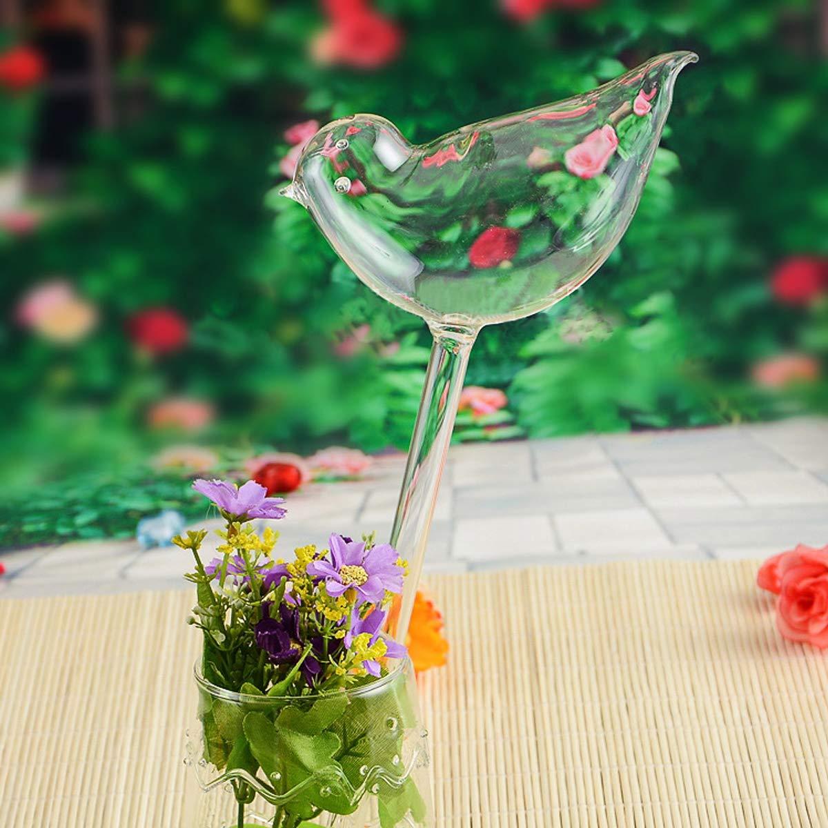 Kitchnexus Poetisch p/ájaro Forma autom/ática de sedal Bola de riego Plantas Sprinkler Wasserspender Glasbl/äserei Transparent 4pcs