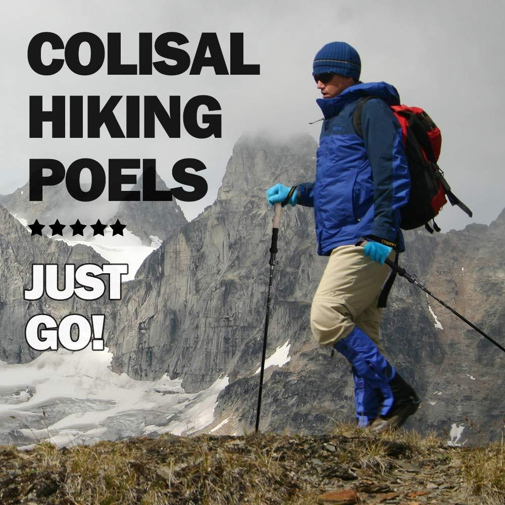 Colisal Trekkingst/öcke Faltbar Wanderst/öcke Ultraleicht Walkingst/öcke Klappbar Wander st/öcke f/ür Damen und Herren Walking St/öcke 1 Paar 125cm und 135cm