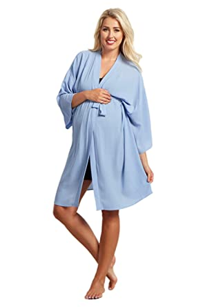 6582d2c4b4948 PinkBlush Maternity Royal Solid Delivery/Nursing Robe at Amazon Women's  Clothing store:
