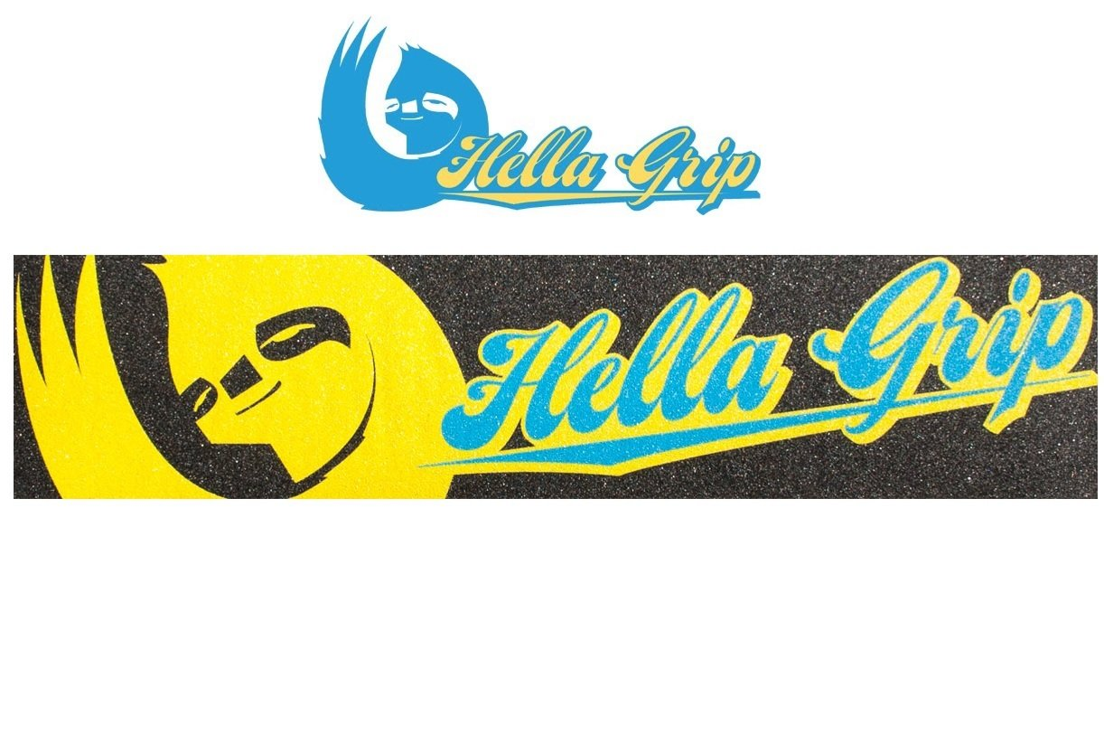 Hella Griptape Classic 2015 Stunt-Scooter 558mm x 127mm Logo Combo Blue-Yellow