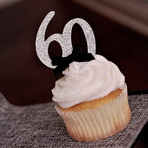 Amazon 60th Birthday Party Ideas Number 60 Cupcake Toppers