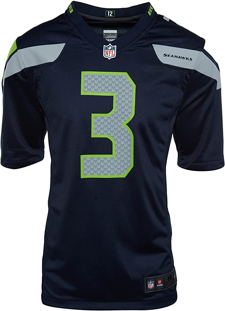 mens seattle seahawks russell wilson nike college navy game jersey ...