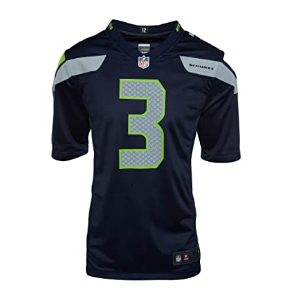 888d3adef The Nike Seattle Seahawks Russell Wilson NFL Game Team Jersey College Navy  Size Large