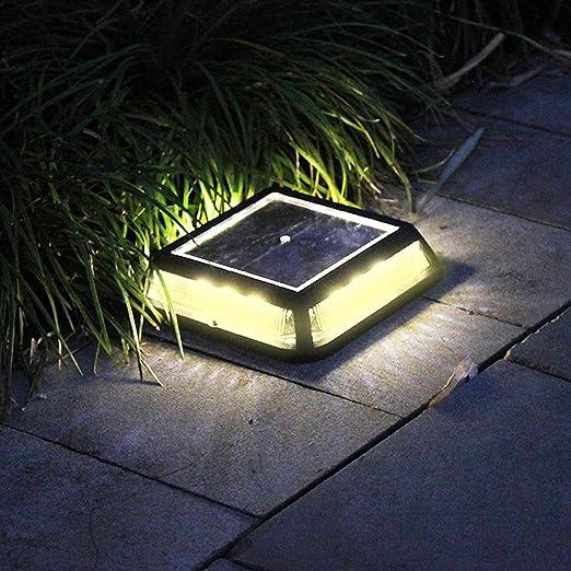 Tefamore Lámpara Solar para Jardín Solar LED Camino al Aire Libre Luz Punto Lámpara Jardín Césped Paisaje Impermeable: Amazon.es: Iluminación